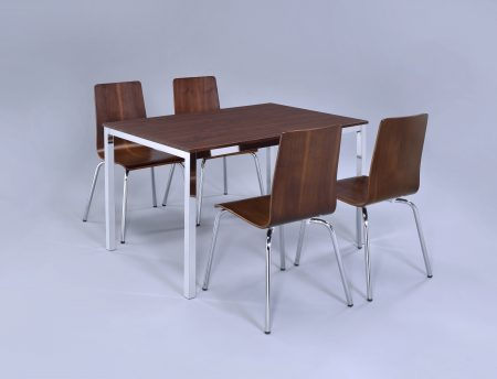 walnut rectangular table + 4 or 6 chairs (2)