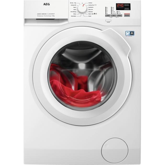 Aeg L6FBK841N Freestanding Washing Machine - White